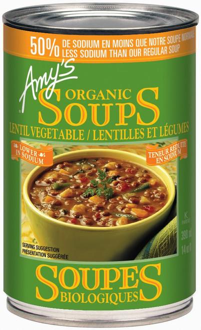 Amy's Kitchen Organic Low Sodium Vegetable Lentil Soup 398mL