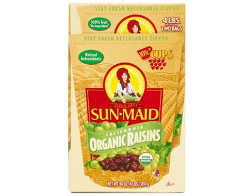Sunmaid Organic Raisin 2x907g