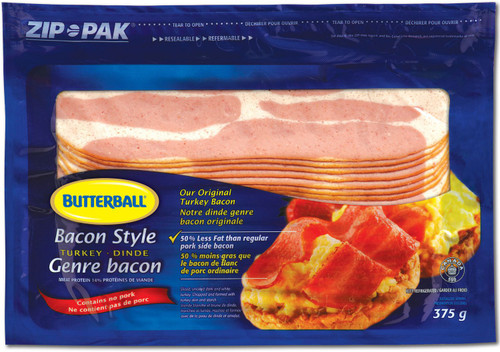 Butterball Turkey Bacon Style  375g