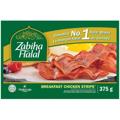 Zabiha Halal, Chicken Breakfast Strip 375g
