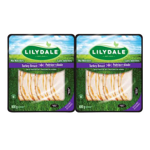 LiLydale Sliced Turkey Breast 2x400g