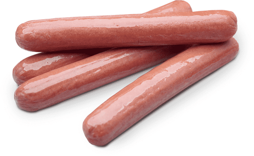"""Gregors North Country 7"""" Smoked All Beef Hotdogs 6kg"""