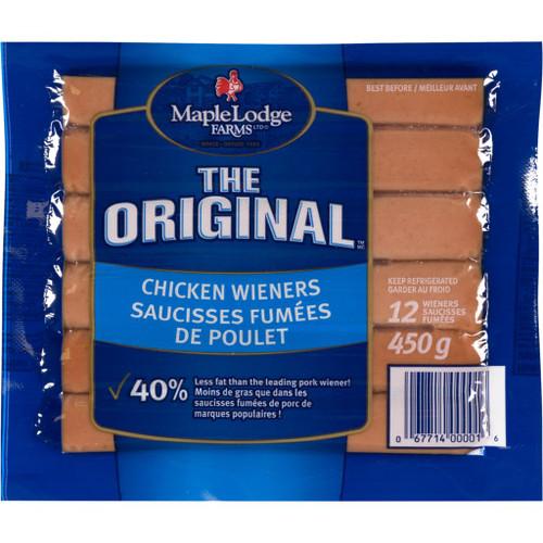 Maple Lodge Farms LT Chicken Wieners 12's