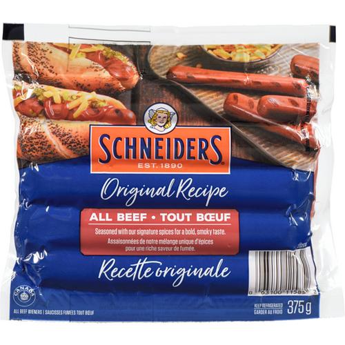 Schneiders All Beef Wieners 12's