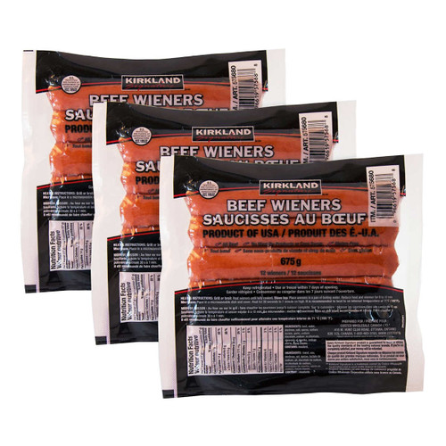 Signature Small Beef Wieners 3x675g