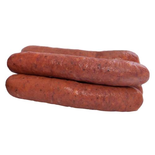 """European Quality Meats 7"""" Cooked Debreizini Frozen Sausage 2x2.27kg"""