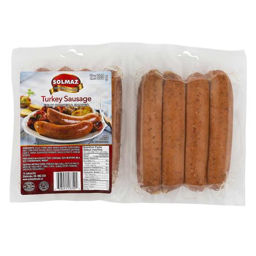 Solmaz Halal Turkey Sausage  2x500g