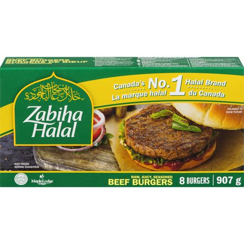 Zabiha Halal Beef Burger 8 Patties 907g