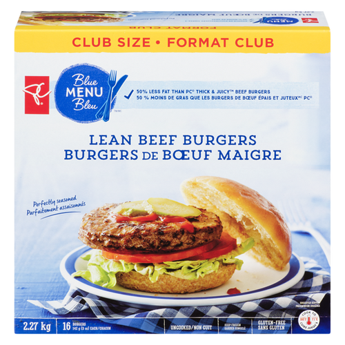 Blue Menu Thick & Juicy Beef Burger Club Pack 16pcs