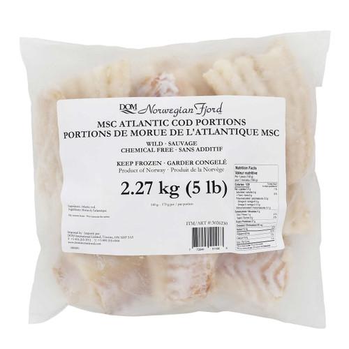 Norwegian Fjord Frozen Cod Portions 2.27 kg