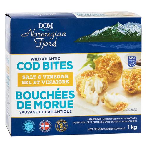 Norwegian Fjord Wild Atlantic Frozen Salt and Vinegar Cod Bites 1 kg