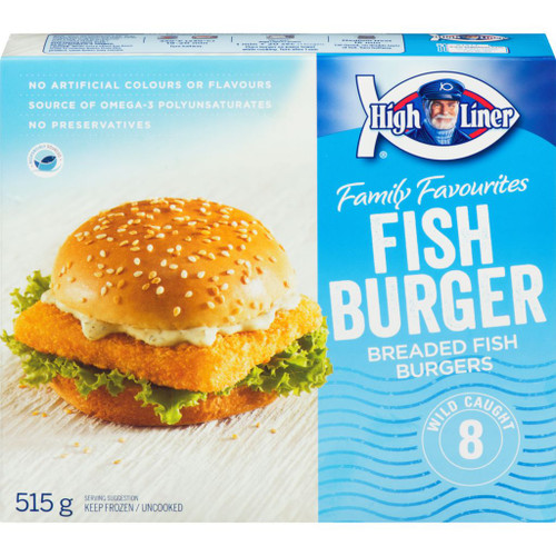 High Liner Breaded Fish Burgers 515g