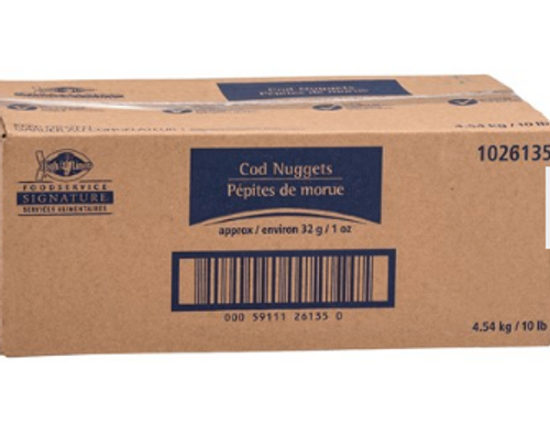 High Liner Breaded Cod Nuggets 1oz 10lb