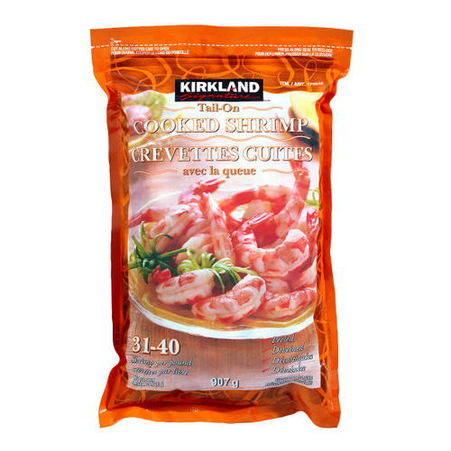 Signature Frozen 31-40 Tail-on Cooked Shrimp 907g