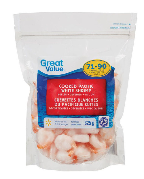 Cooked Pacific White Shrimp 625g