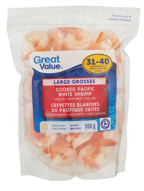 Cooked Large Pacific White Shrimp 550g