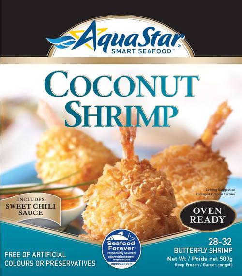 Aqua Star Oven Ready Coconut Shrimp 28-32 Butterfly Shrimp 500g