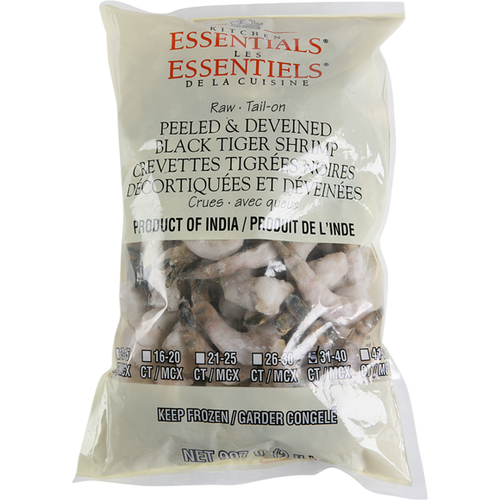 Kitchen Essential Black Tiger Shrimp, 31-40CT 910g