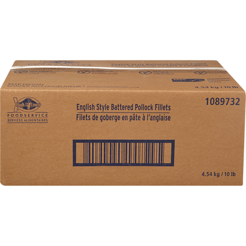 High Liner Battered Pollock, English Style 4kg