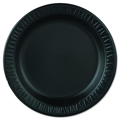 "Foam Plate 9"" Black 1Compartment 500/cs"