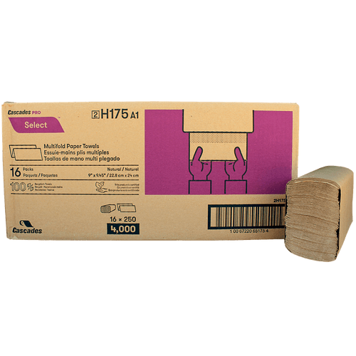 Multifold Paper Towel Kraft 16x250Sheet