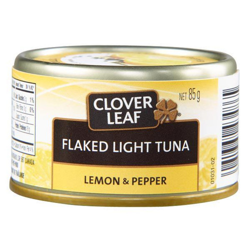 Clover LEAF® Lemon & Pepper Flaked Light Tuna 85g