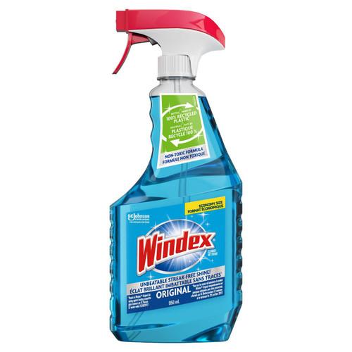 Windex Original Blue Glass and Window Cleaner Spray, 950ml