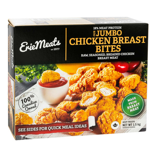 Erie Meats Frozen Chicken Breast Bites 1.5kg