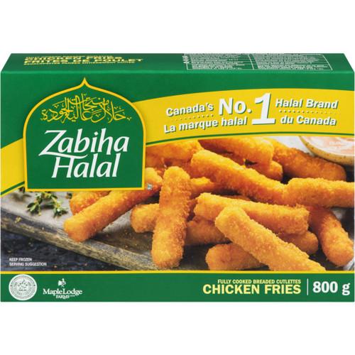 ZABIHA HALAL Frozen Chicken Fries 800g
