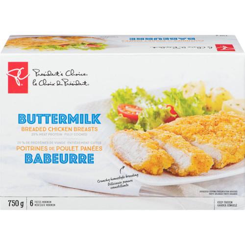 PC Breaded Chicken Breasts Buttermilk 6 Pieces Minimum 750g