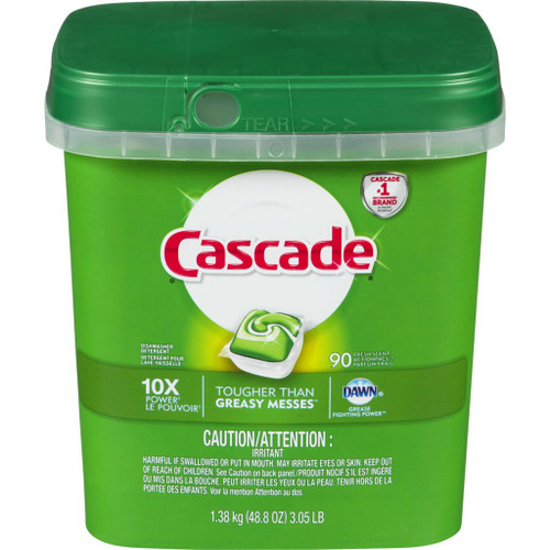 Cascade 2-in-1 ActionPacs with Dawn, Fresh Scent 90 ea