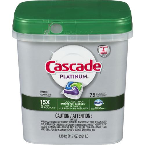 Cascade Platinum Action Pacs Dishwasher Detergent, Fresh Scent 75 ea