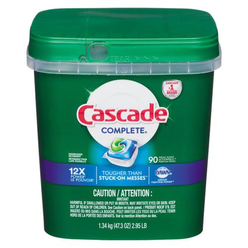 Cascade Complete Dishwasher Detergent, Fresh Scent 90 ea