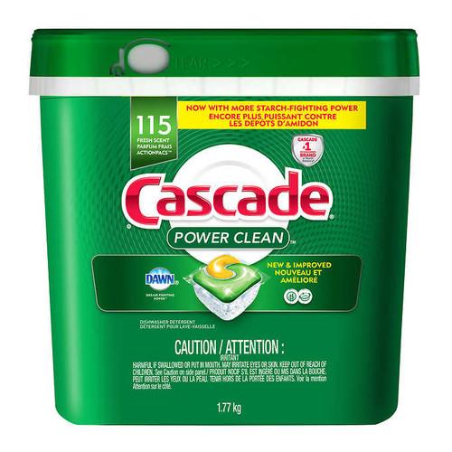 Cascade Power Clean Dishwasher Detergent115 ActionPacs