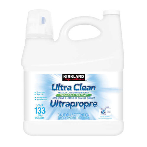 Kirkland Signature Ultra Clean Free and Clear Liquid Laundry Detergent133 wash loads