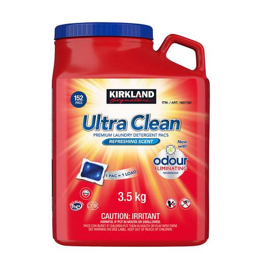 Kirkland Signature Ultra Clean HE Laundry Detergent Pacs152 wash loads
