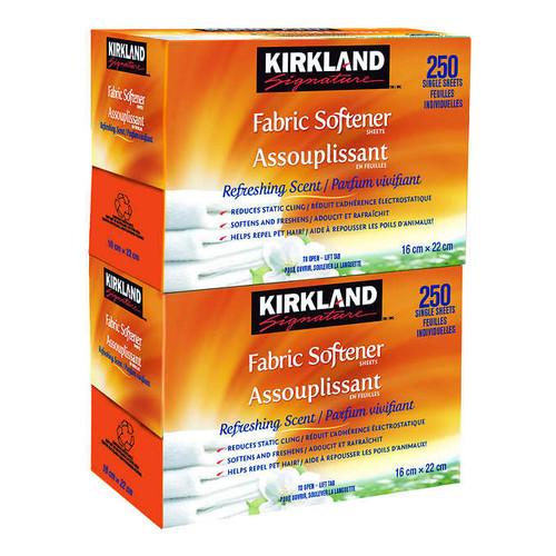 Kirkland Signature Fabric Softener Sheets2 packs of 250