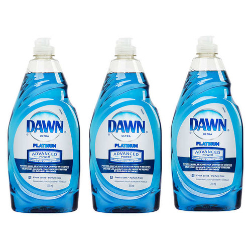 Dawn Ultra Platinum Advanced Power Dishwashing Liquid3 x 709 mL