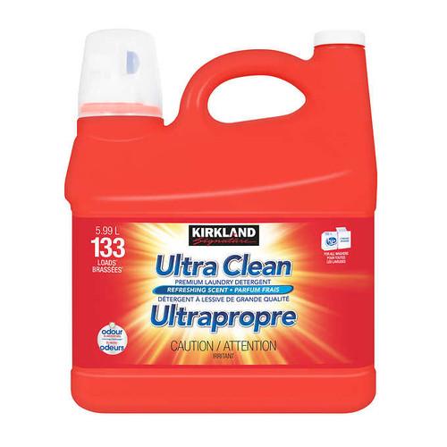 Kirkland Signature Ultra Clean Premium Laundry Detergent 5.99 L133 wash loads