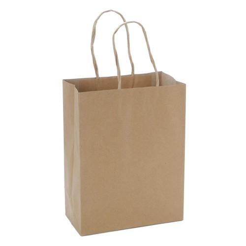Paper Bag Plain Kraft With Handle #2 250/pk