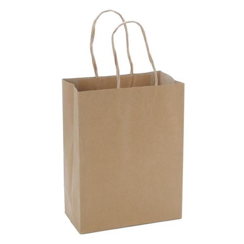 Paper Bag Plain Kraft With Handle #3 200/pk