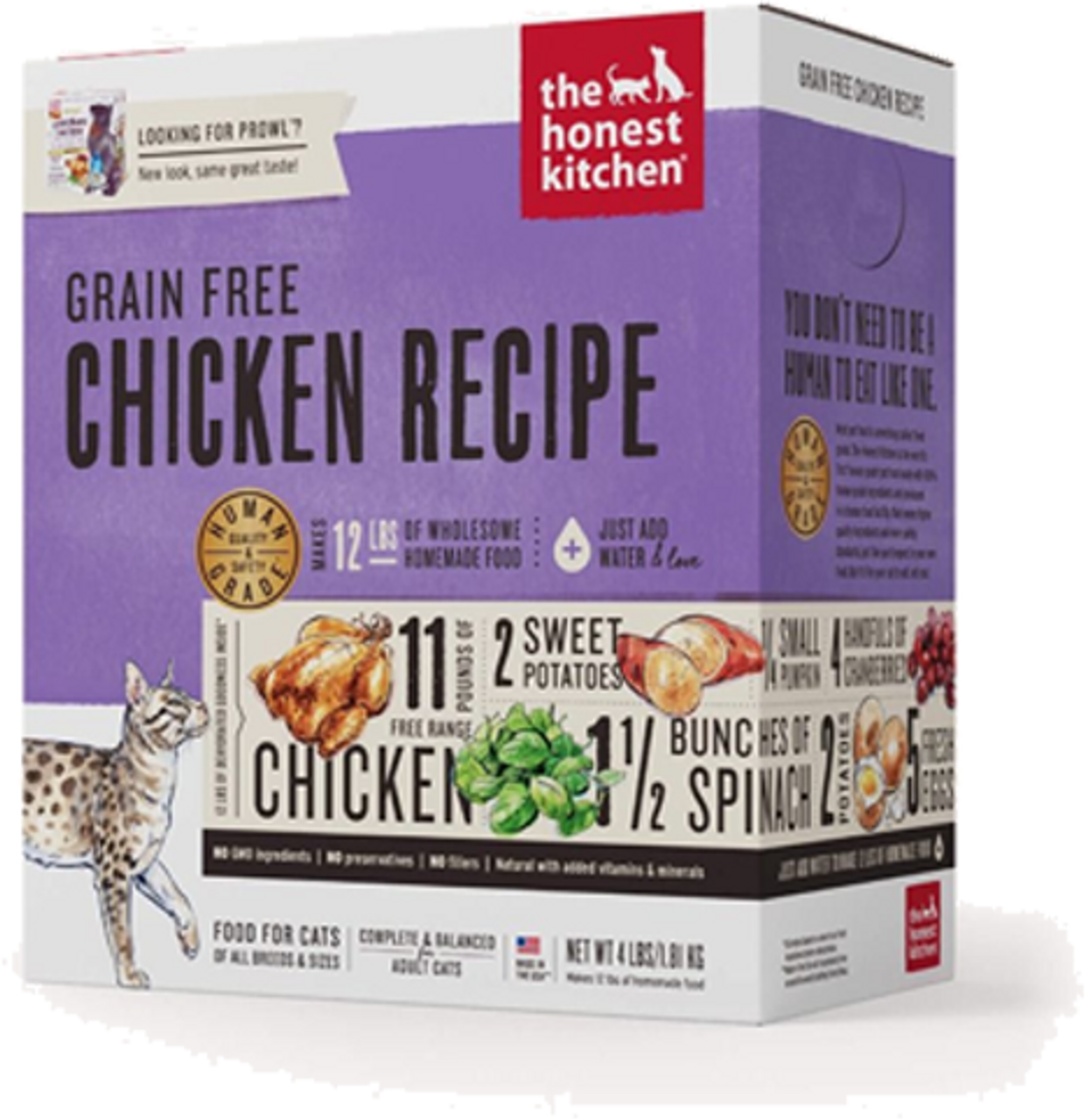 The Honest Kitchen Dehydrated Grain Free Chicken Recipe Prowl Adult Cat Food 4 Lb