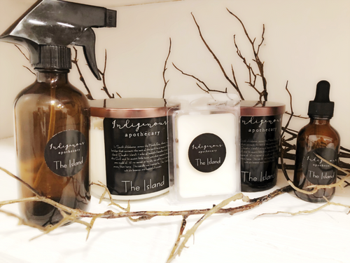 The Island, beach smell, Indigenous apothecary, the island Candle, candle, soy candle, homewares, room and linen spray, The island Line