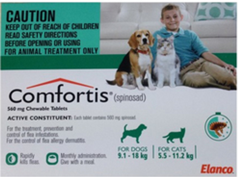 Comfortis for Cats 12.1-24 lbs (5.5-11.2 kgs) - 6 Pack - Green
