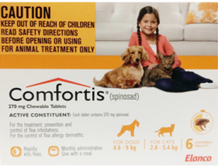 Comfortis for Cats 6.1-12 lbs (2.8-5.4 kgs) - 6 Pack - Orange