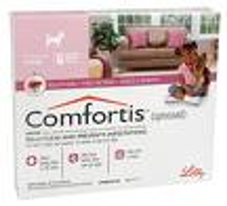 Comfortis for Dogs 5-10 lbs (2.3-4.5 kgs) - 6 Pack - Pink