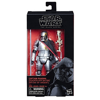 Star Wars The Black Series Captain Phasma (Quicksilver Baton) 6-Inch Action Figure #00