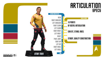 Star Trek Captain James T. Kirk Action Figure