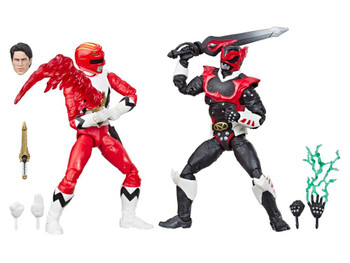 Power Rangers Lightning Collection In Space Psycho Red Ranger and Lost Galaxy Red Ranger 6-Inch Action Figures