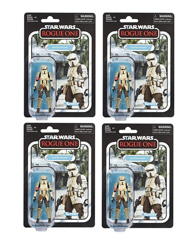 Star Wars Vintage Collection Scarif Stormtrooper (Rogue One) VC133 - ARMY  BUILDER BUNDLE - 4 Figures